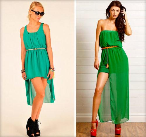 3d0419f799 Zelené šaty s štiepením. Unikátne zelené šaty  vytvorte módny obraz.